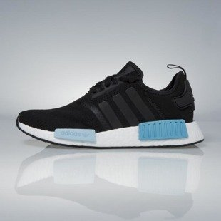 Sneakers buty Adidas Originals NMD_R1 WMNS core black / icey blue BY9951
