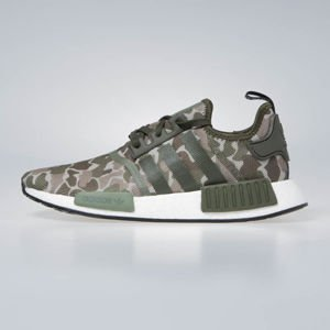 Sneakers buty Adidas Originals NMD_R1 sesame/trace cargo/base green (D96617)