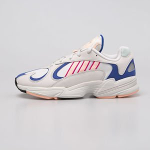 Sneakers buty Adidas Originals Yung-1 crystal white / clear orange / collegiate royal (BD7654)