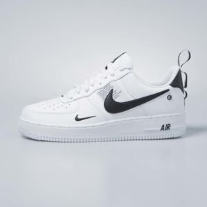 Sneakers buty Nike Air Force 1 '07 LV8 Untility white / white-black-tour yellow (AJ7747-100)