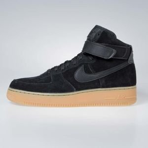Sneakers buty Nike Air Force 1 High '07 LV8 Suede black / black-gum med brown (AA1118-001)