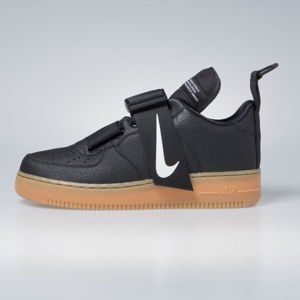 Sneakers buty Nike Air Force 1 Utility black / white-gum med brown (AO1531-002)