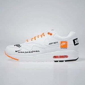 Sneakers buty Nike Air Max 1 LX white/black-total orange (917691-100)