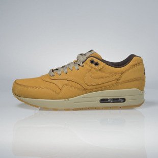 Sneakers buty Nike Air Max 1 Leather Premium bronze / bronze-baroque brown (705282-700)