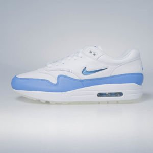 Sneakers buty Nike Air Max 1 Premium SC white / university blue 918354-102