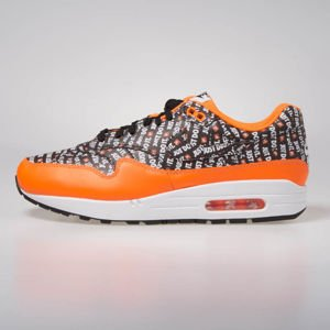 Sneakers buty Nike Air Max 1 Premium black/black-total orange-white (875844-008)