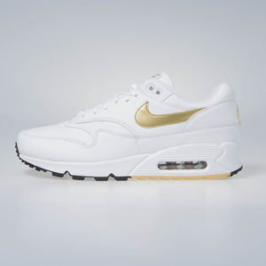 Sneakers buty Nike Air Max 90/1 white/metalic gold-black (AJ7695-102)