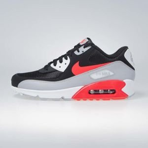 Sneakers buty Nike Air Max 90 Essential wolf grey/bright crimson-black (AJ1285-012)