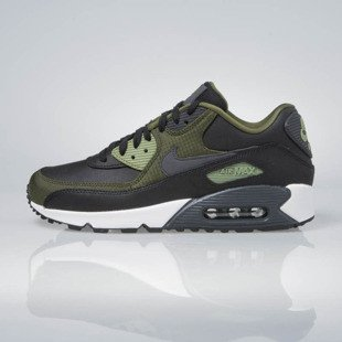 Sneakers buty Nike Air Max 90 Premium black / anthracite-legion green 700155-002