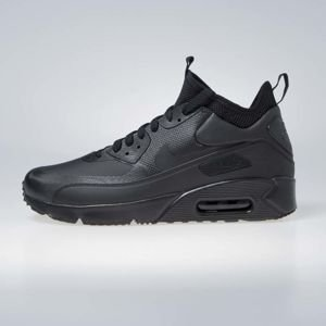 Sneakers buty Nike Air Max 90 Ultra Mid Winter black/black-anthracite (924458-004)