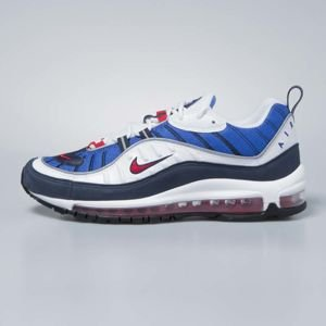 Sneakers buty Nike Air Max 98 white / university red - obsidian 640744-100