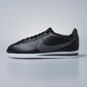 Sneakers buty Nike Classic Cortez Leather black / dark grey - white 749571-011