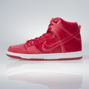Sneakers buty Nike SB Dunk High Premium SB gym red / gym red-white 313171-661
