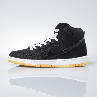 Sneakers buty Nike SB Dunk High Pro SB black / black-white-laser orange (305050-034)