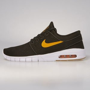 Sneakers buty Nike SB Stefan Janoski Max sequoia / circuit orange 631303-389