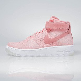 Sneakers buty Nike WMNS Air Force 1 Flyknit bright melon / bright melon 818018-802
