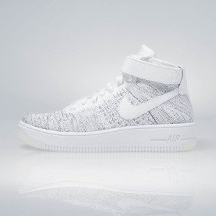 Sneakers buty Nike WMNS Air Force 1 Flyknit white / white-black 818018-101