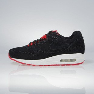 Sneakers buty Nike WMNS Air Max 1 Premium black / black-action red 454746-010