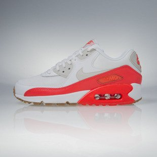 Sneakers buty Nike WMNS Air Max 90 Essential white / light brown crimson (616730-113)