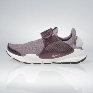 Sneakers buty Nike WMNS Sock Dart SE night maroon / lt iron ore 862412-600