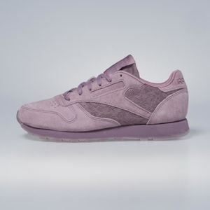 Sneakers buty Reebok Classic WMNS Leather Lace smoky orchid / white BS6521