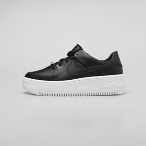 Sneakers buty damskie Nike Air Force 1 Sage Low black / black-white (AR5339-002)