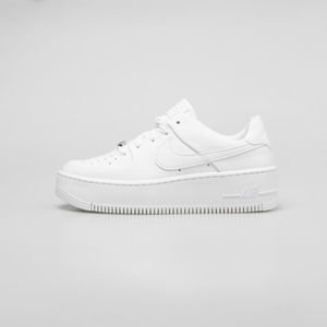 Sneakers buty damskie Nike Air Force 1 Sage Low white / white-white (AR5339-100)