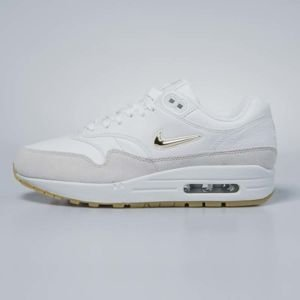 Sneakers buty damskie Nike Air Max 1 Premium SC summit white / metallic gold star AA0512-100
