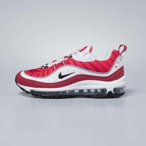 Sneakers buty damskie Nike Air Max 98 white / black - gym red AH6799-101