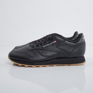 Sneakers buty damskie Reebok Classic Leather black / gum (49804)