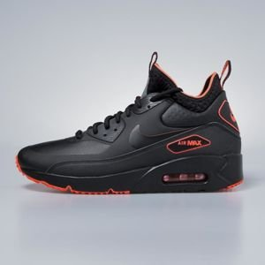 Sneakers buty zimowe Nike Air Max 90 Ultra Mid Winter SE black / black - total crimson AA4423-001