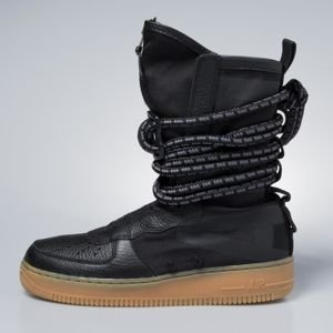 Sneakers buty zimowe Nike SF AF1 High black / black-gum med brown AA1128-001