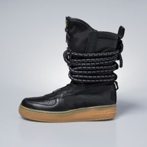 Sneakers buty zimowe damskie Nike SF AF1 High black / black-gum light brown AA3965-001