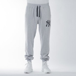 Spodnie dresowe Majestic Athletic Garten Cuffed Hem Jogger New York Yankees marl grey (MNY1440E2)
