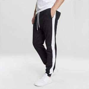 Spodnie dresowe Urban Classics 2-Tone Interlock Track Pants black / white
