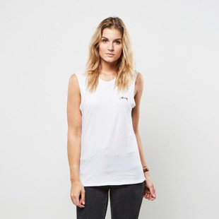 Stussy koszulka tank top Parrots Raw Edge Muscle white WMNS