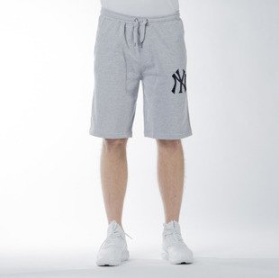 Szorty Majestic Athletic Desta Fleece Short New York Yankees marl grey (MNY1442E2)