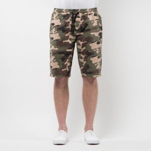 Szorty Mass Denim Shorts Pants Base straight fit woodland camo SS 2017