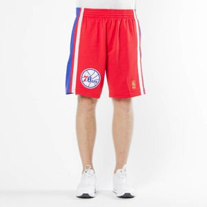 Szorty Mitchell & Ness Philadelphia 76ers red/royal Swingman Shorts