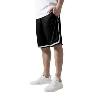 Szorty Urban Classics Stripes Mesh Shorts black / black / white
