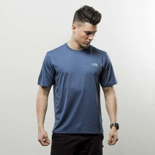 The North Face koszulka T-Shirt Reaxion Amp Crew shady blue heather T0CE0QHKW