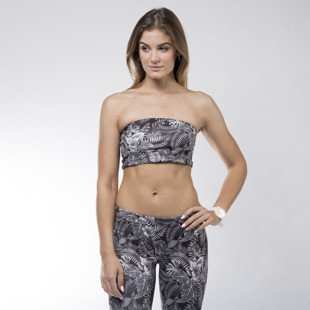 Top Jungmob Bandeau Dark Jungle dark grey / black