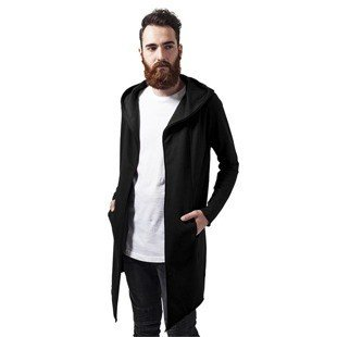 Urban Classics bluza Long Hooded Open Edge Cardigan black