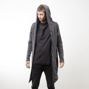Urban Classics bluza Long Hooded Open Edge Cardigan charcoal (TB1389)