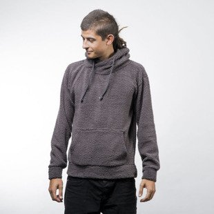 Urban Classics bluza Sherpa High Neck Hoody dark grey (TB1401)