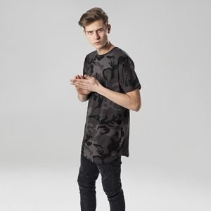 Urban Classics koszulka Camo Shaped Long Tee dark camo TB1646