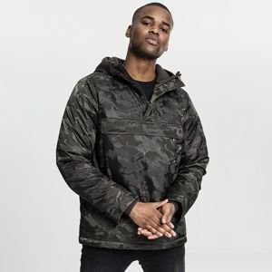 Urban Classics kurtka Padded Camo Pull Over Jacket dark olive TB1802