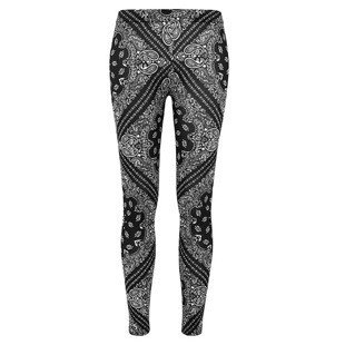 Urban Classics legginsy Ladies Bandana Leggings WMNS black / white