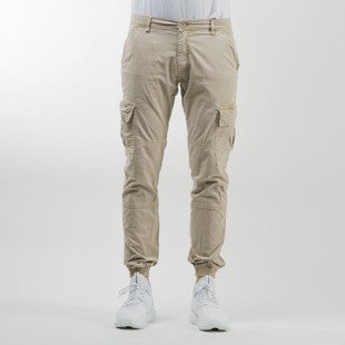 Urban Classics spodnie Washed Cargo Twill Jogging Pants sand TB1435