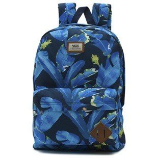 Vans plecak backpack Old Skool II Backpack dress blue bonsai leaf VN000ONINKB